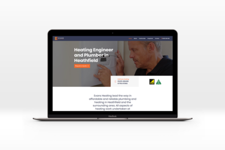 website design for Evans Heating Company in Sussex