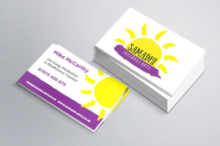business cards design for Samadhi