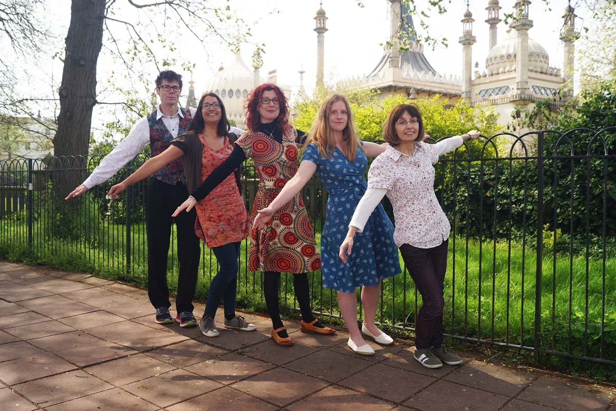 Inkpod team outside the Royal Pavilion in Brighton