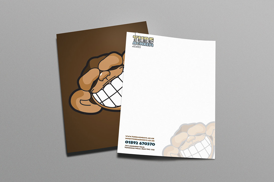 Tube Monkeys company letterheads design